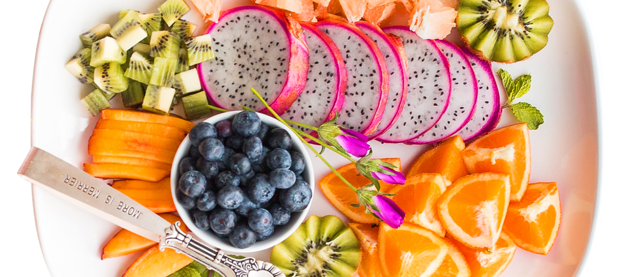 Red White and Blue Watermelon Blueberry Fruit Salad