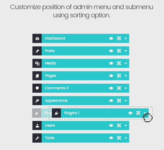 fly menu custom toggle