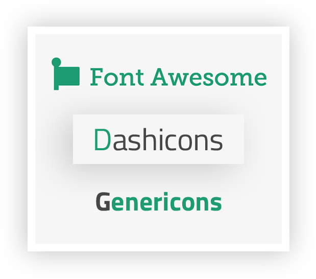 WP Menu Icons Lite - Supports Free 5 Font Icons