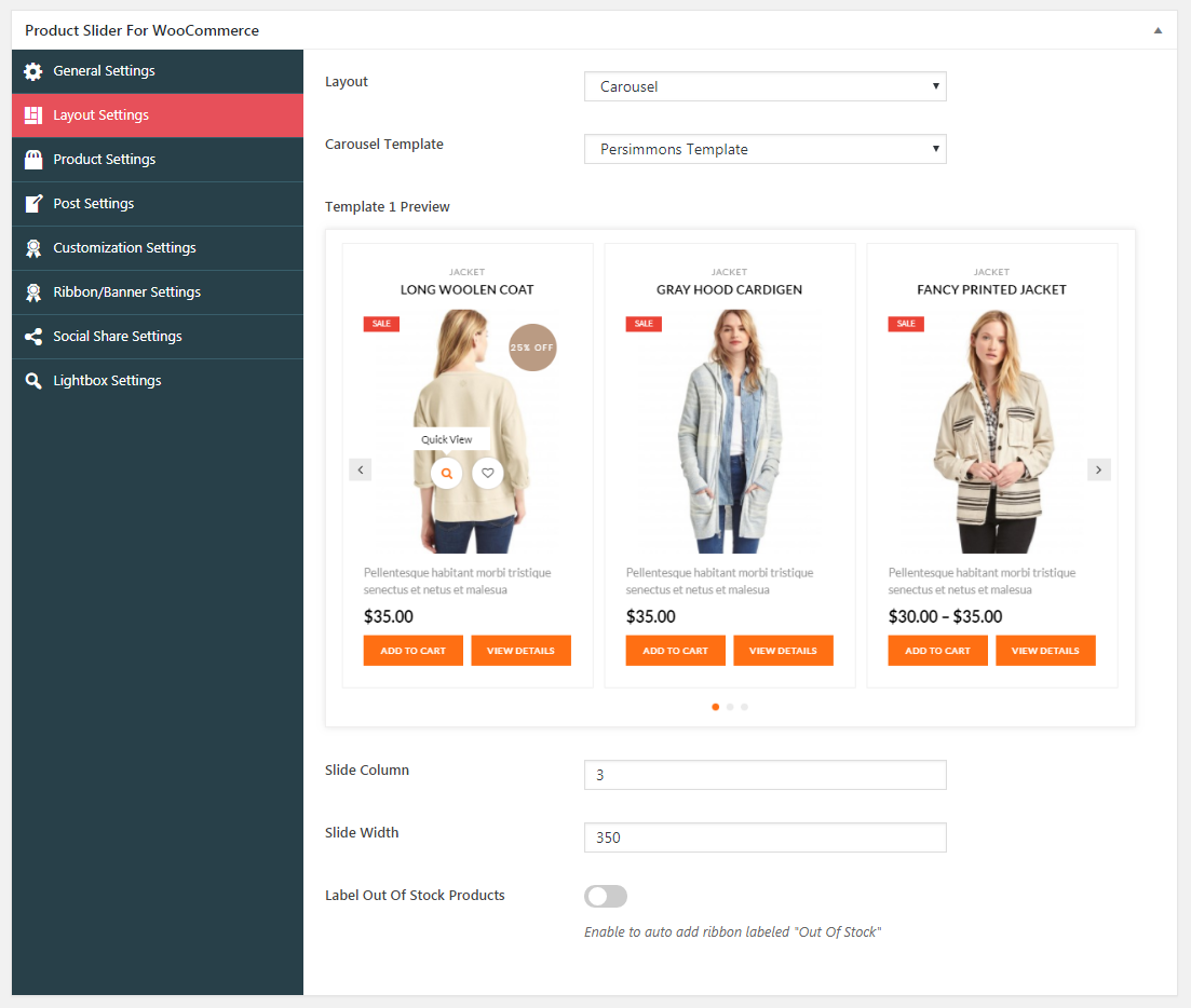 Product Slider For WooCommerce Carousel