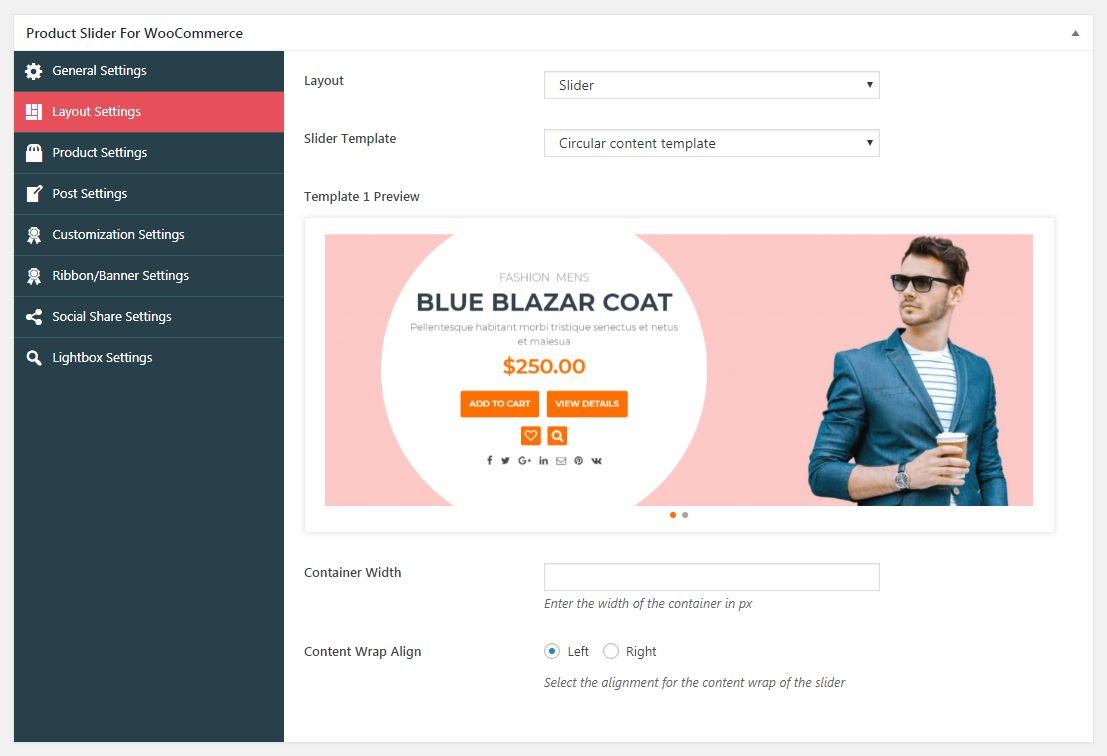 Product Slider For WooCommerce Slider