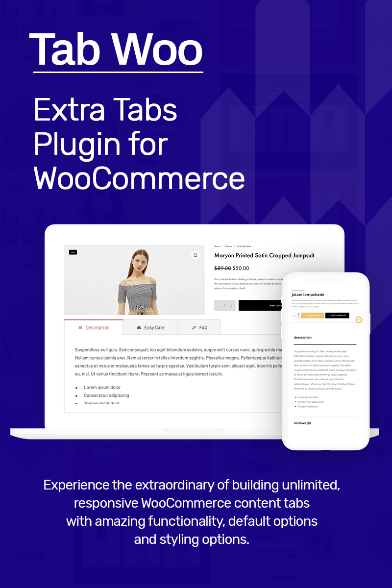 Extra Tabs Plugin for WooCommerce – TabWoo