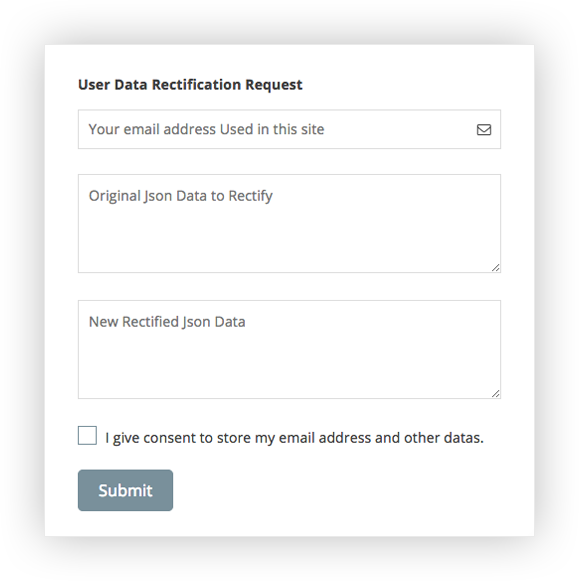 Total GDPR Compliance Data Correction
