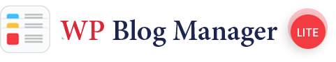 wp blog manager lite site logo