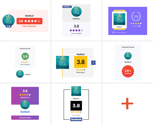 WP Facebook Review Showcase 10 Badge Templates