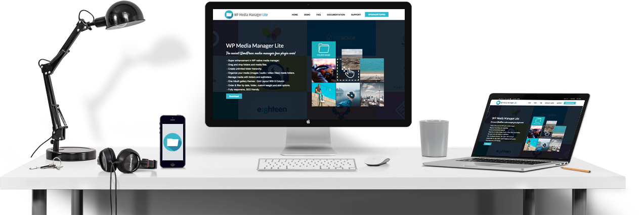 WP Media Manager Lite -Footer Banner