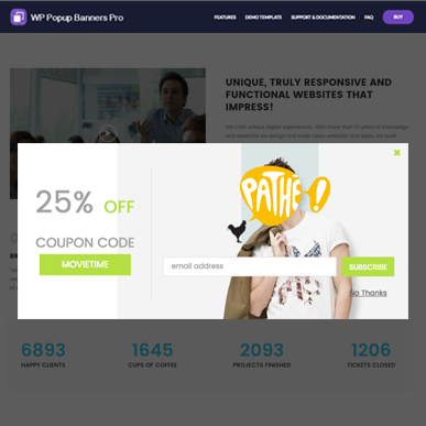 Coupon Pop ‑ Email Popup