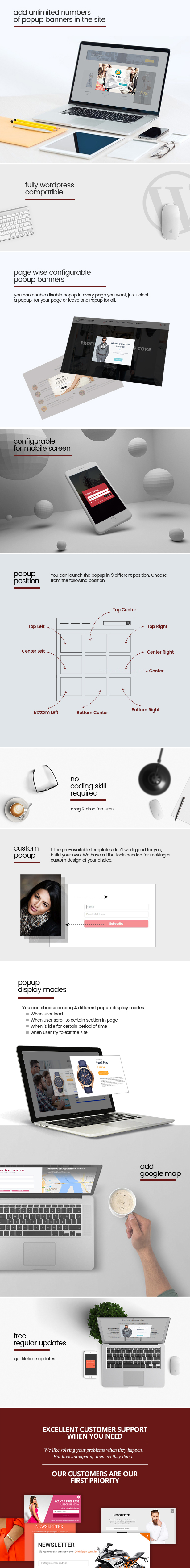 popup-banner WP Popup Banners Pro - Ultimate popup plugin for WordPress (Interface Elements)