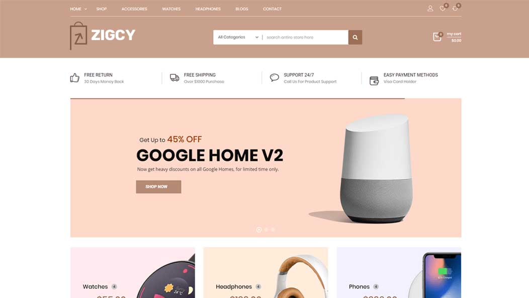 Zigcy Landing Page Banner