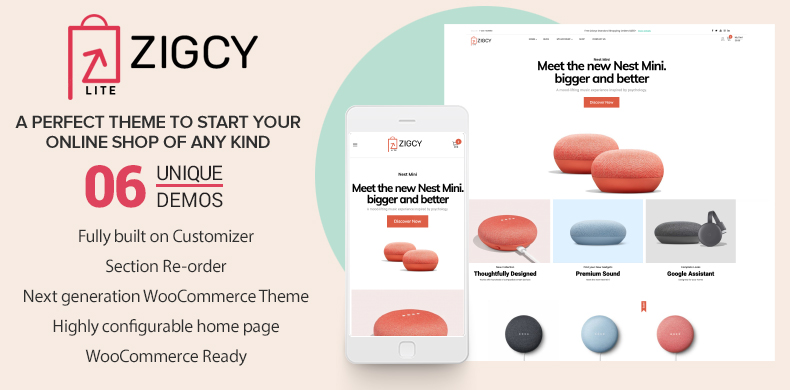#1 Best Free WooCommerce Theme 2020 – Zigcy Lite